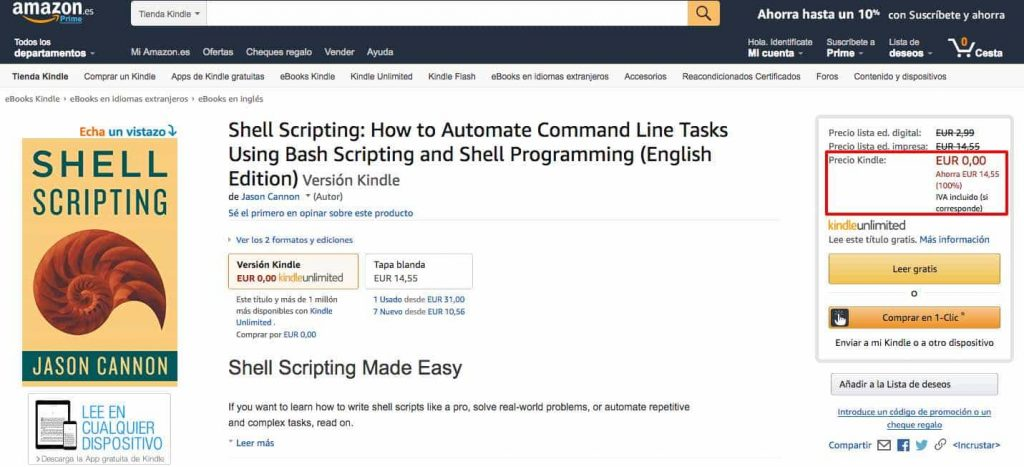 Linux, ebook gratis para Kindle: Shell Scripting 1