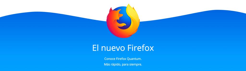 Logo y texto del navegador web Firefox Quantum
